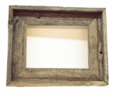 old weathered barnwood picture frame