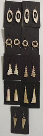 Jewelry made from Deer bone.
