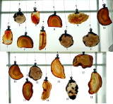 SLICED AGATE WINDOW HANGERS