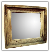 old weathered barnwood framed mirror (SKU: 4)