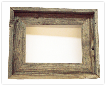 old weathered barnwood picture frame (SKU: 2)