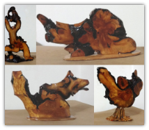 sage root burl sculptures (SKU: 300)